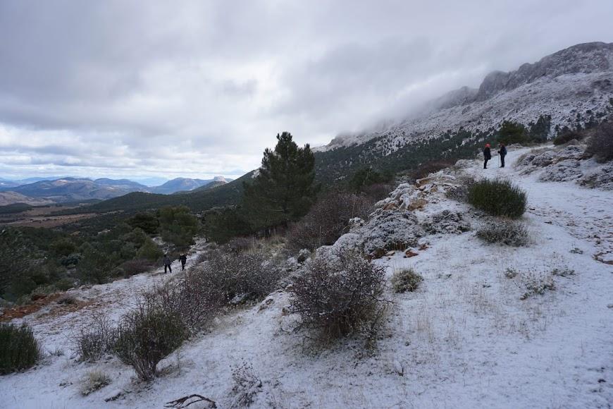 Nieve en la Sierra de María el domingo. / Foto: Jonás Langa Vidal