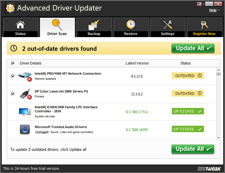 Use Advanced Driver Updater
