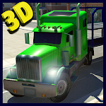 Car Transporter Cargo Truck 3D Icon