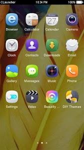 Yellow Feather Theme CLauncher screenshot 1