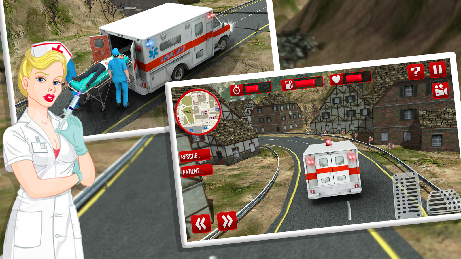 City Ambulance Rescue 2017: Emergency Simulator 3d- screenshot