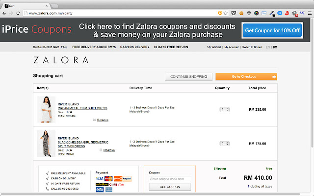 iPrice Malaysia Chrome Extension