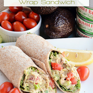 Avocado and Tuna Salad Wrap.