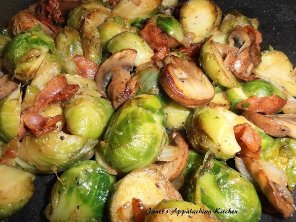Brussel Sprouts With Mushrooms And Bacon Recipe