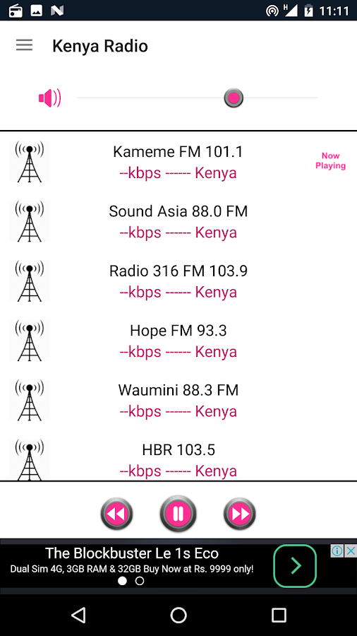 Kenya Radio- screenshot
