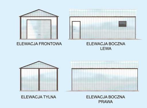 GB29 Garaż Blaszany - Elewacje