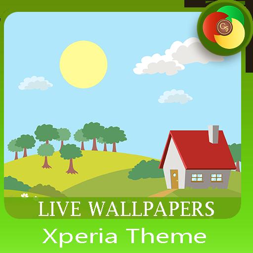 Hello Spring | Xperia™ Theme (sun, rain, clouds)