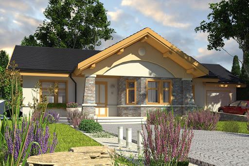 projekt Skowronek z garażem 1-st. A
