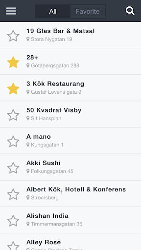 Bokabord Restaurant Guide