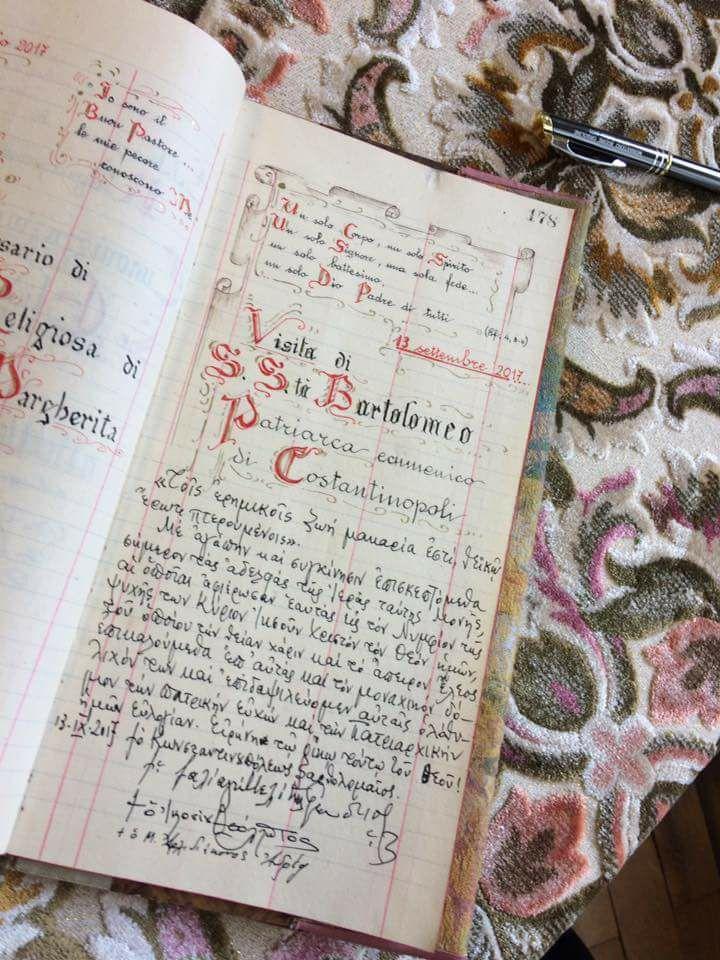 Σε γυναικέια Μονή στη Μπολόνια ο Οικουμενικός Πατριάρχης