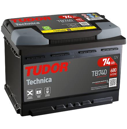 Startbatteri Tudor 12V/74Ah