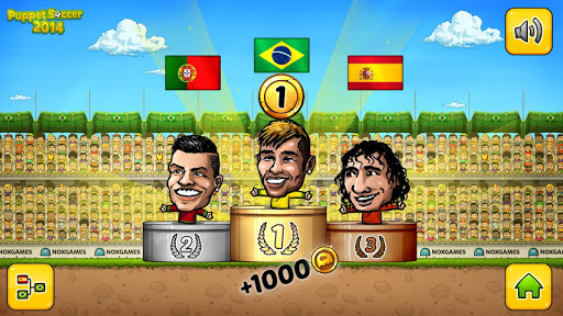 ⚽Puppet Soccer 2014 - Big Head Football ? screenshot 7