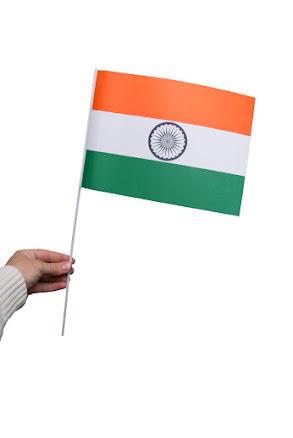 Pappersflagga, Indien