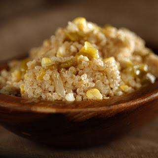 Quinoa, Sweet Corn and Green Chile Pilaf