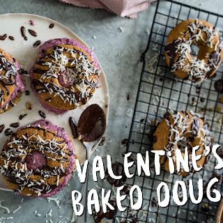 Valentines Days – Healthy Baked Doughnuts Ice Cream Sandwich.