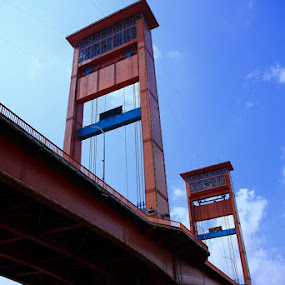 Ampera Bridge, Palembang - Indonesia by 'Erizal Harnas' - Buildings & Architecture Bridges & Suspended Structures ( musi, ampera, ampera bridge, jembatan ampera )