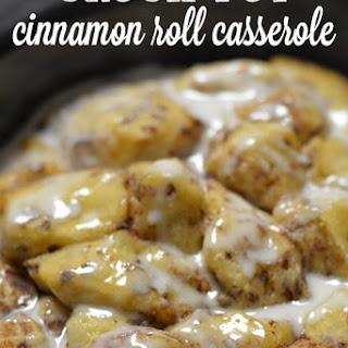 Crock Pot Cinnamon Roll Casserole.