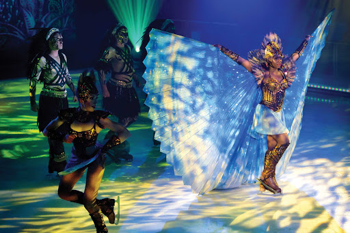 "symphony-of-the-seas-Ice-Show.jpg -   A scene from the colorful ""1977, A Thrilling Adventure On Ice,"" which you can catch during a cruise on Symphony of the Seas."
