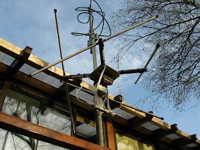 Photo: avec la QFH et l'on voit une boite noire(inverseur d'antenne)