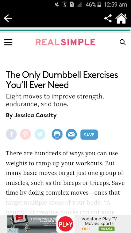 Dumbbell Workout Screenshot