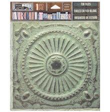 7 Gypsies Architextures Adhesive Tin Tiles 5.75X5.75 - Patina UTGÅENDE