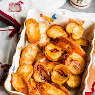 Oven-Roasted Potatoes and Onions.