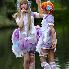 Cosplay girls by Simo Järvinen - Babies & Children Child Portraits ( cosplay, girls, outdoor, children, people )