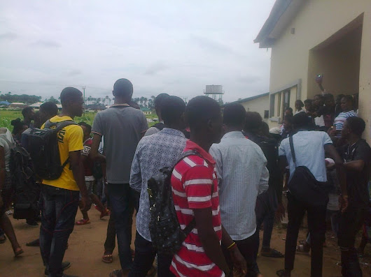 NDI and ND2 SLT Student of Delta state polytechnic Oghara Fought Today, June 22, 2017 after Writing their Test