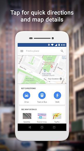 Google Maps Go - Directions, Traffic & Transit screenshots 1