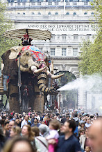 Photo: I'm sure there's a few of you that have ridden on an elephant before. But was it as big as this one?  Sultan's Elephant was a performance created by Royal de Luxe, a French theatre company. The show was spread across 4 days in central London. I went along to have a quick look one Saturday morning and ended up spending my entire weekend completely enthralled and wishing for more.  #TransportTuesday curated by +Gene Bowker