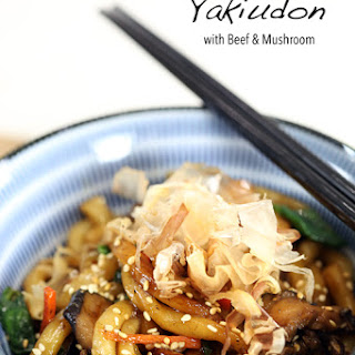Yaki Udon with Beef and Mushroom.