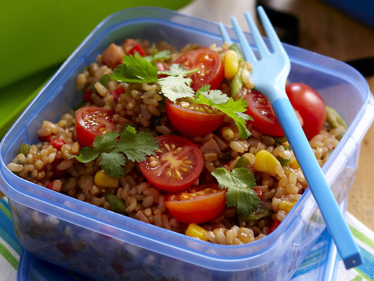 Colorful Fried Rice Salad Recipe