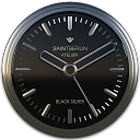 Black Silver Clock Widget