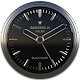 Black Silver Clock Widget v2.51