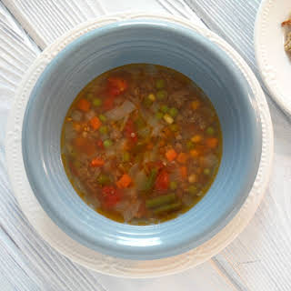 Beef and Vegetable Soup (with Ground Beef).