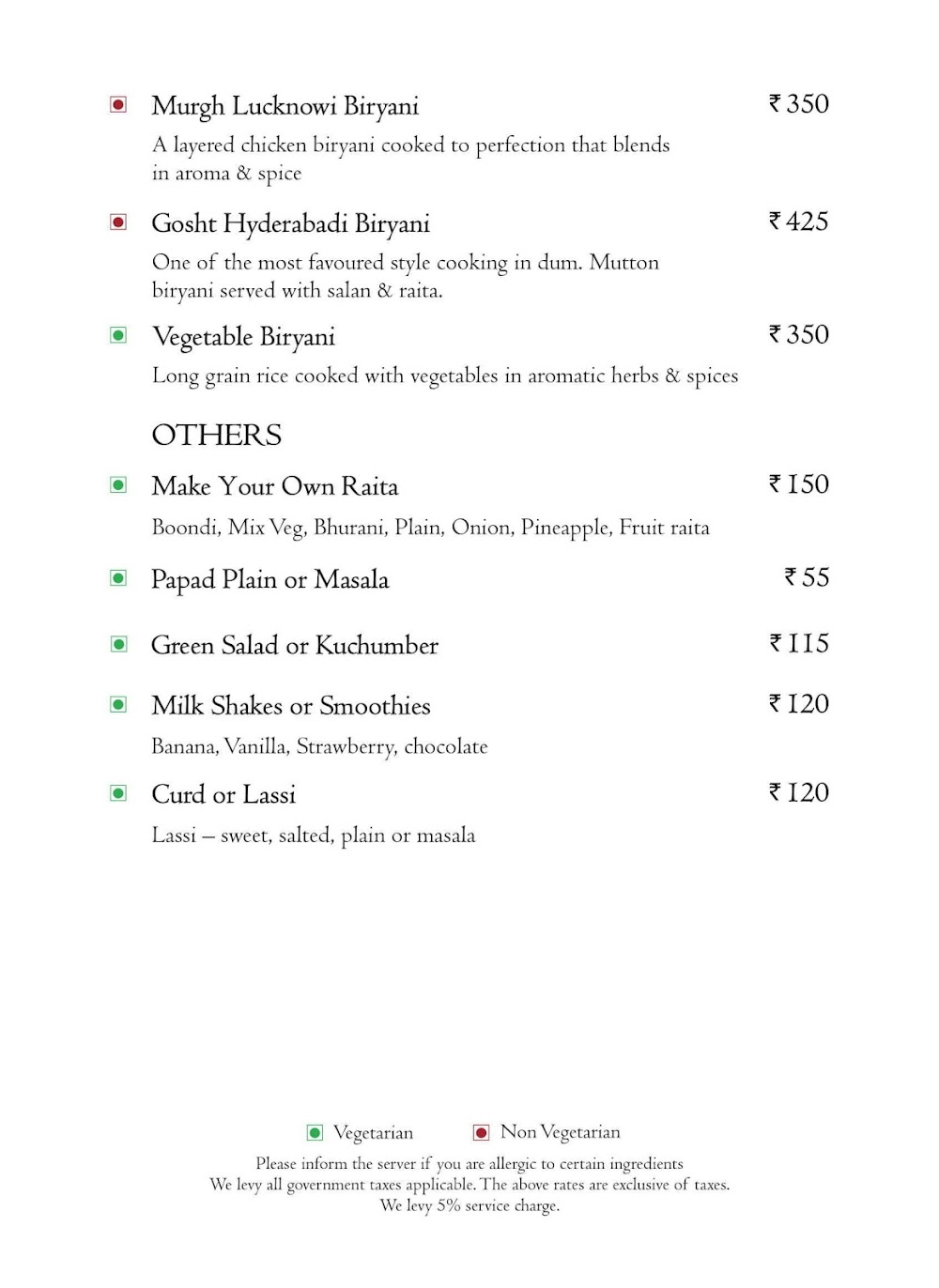 Branche - Golden Tulip Suites menu 10