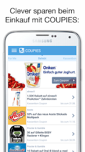 COUPIES - Spare Geld mit Coupons im Supermarkt- screenshot thumbnail