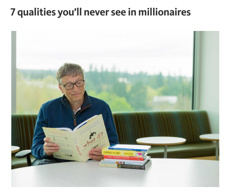 7 qualities you'll never see in millionaires
