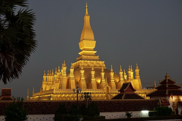 Pha That Luang in Vientiane.