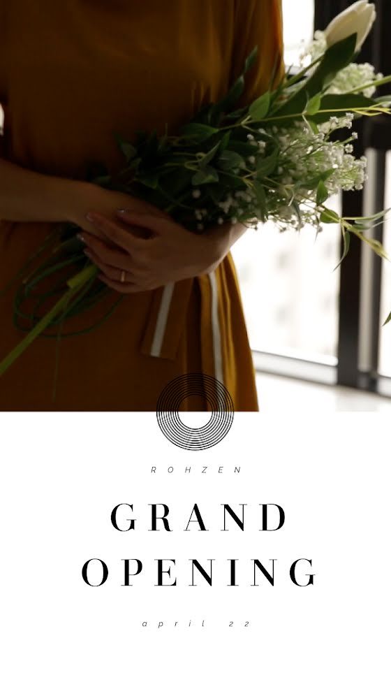 Grand Opening Bouquet - Facebook Story Template