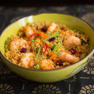 Couscous with Prawns.
