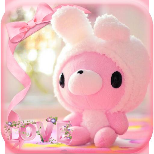 Lovely bear Theme pink bear