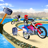 Offroad Moto Bike Impossible Stunt Racing