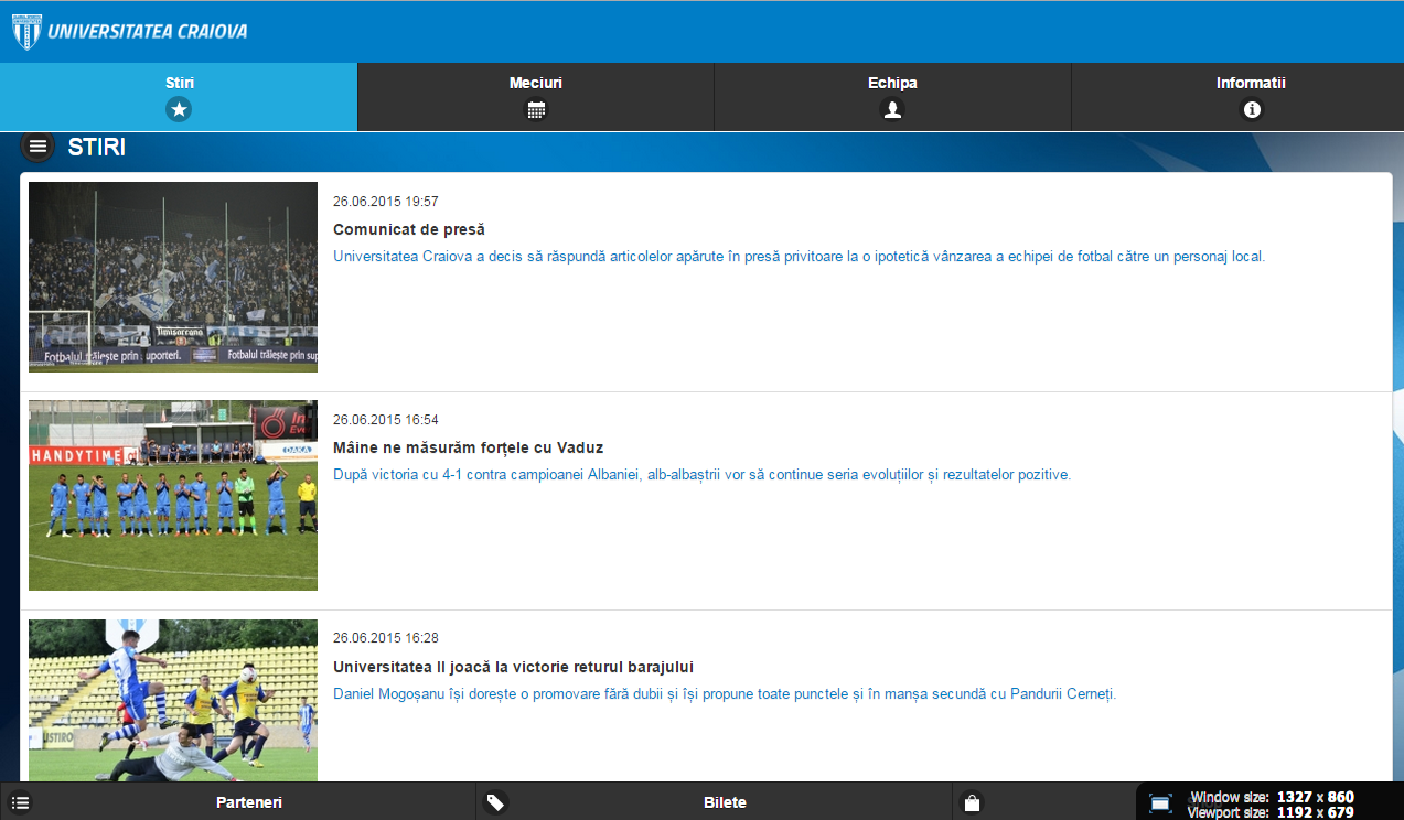 Universitatea Craiova- screenshot