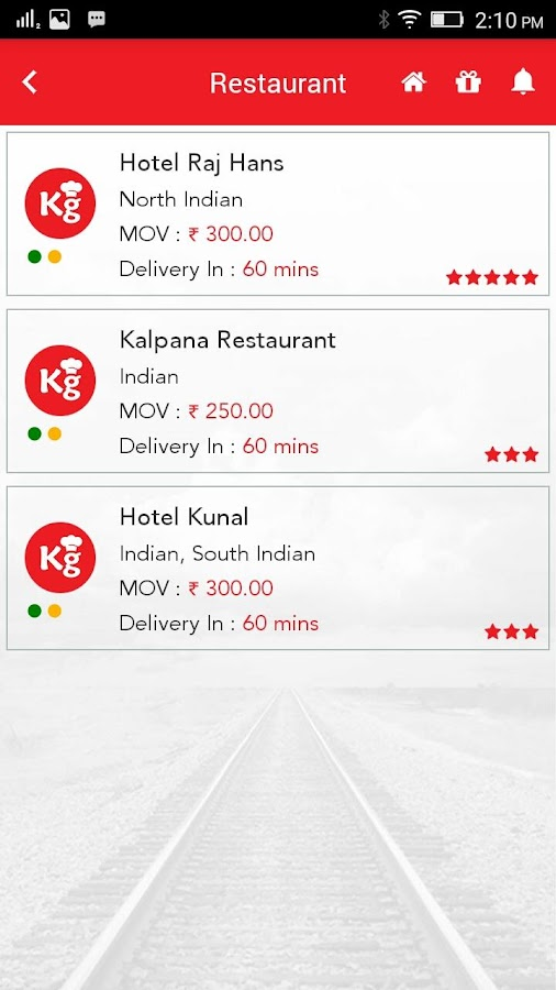KhanaGaDi-Train Food Delivery- screenshot