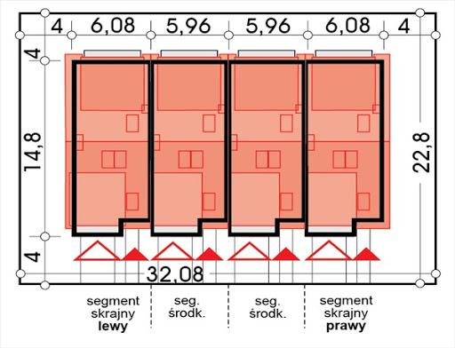 Erwin zestaw 4 segmentów L+S+S+P - Sytuacja