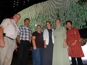 Photo: Our full MTM ministry team at Medan. LR-Raymond Burkholder, Richard Anderson, Marian Yoder, Rosa King, Judy Flory (Merle Missing) & Richard's wife Meiland.