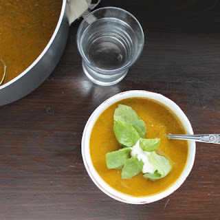 Roasted Red Pepper & Butternut Squash Soup