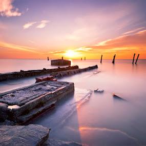The Abandon Fish Factory by SyaFiq Sha'Rani - Landscapes Sunsets & Sunrises ( waterscape, sunset, fish, factory, abandon )