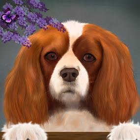 Peppy by Nicole Rix - Painting All Painting ( corel painter, digital art, dog, portrait )